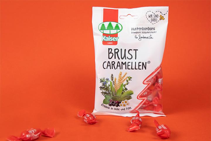 Kaiser Brust Caramellen Packung