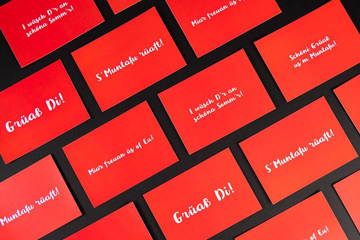 Case Montafon Tourismus Postkarten