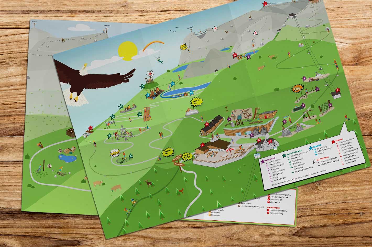 Silvretta Montafon Karte