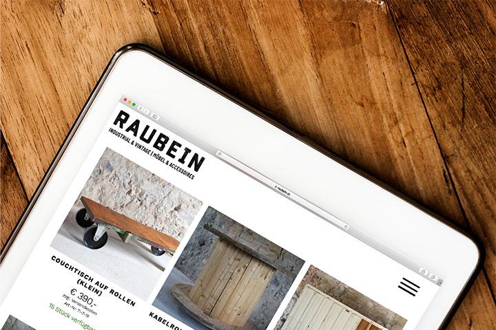 Raubein Webseite Detailansicht